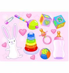 girl toys vector image