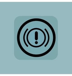 Pale blue alert sign vector