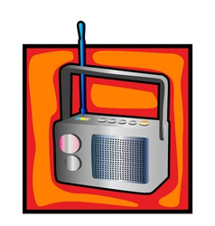 Retro radio clip art vector