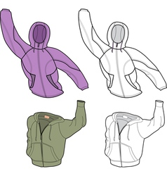 Hooded sweatshirt vector