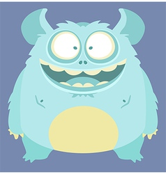 Cute smiling monster vector