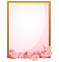 An empty paper with a flowery design vector image