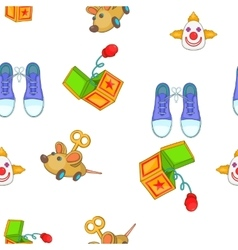 April fools day elements pattern cartoon style vector