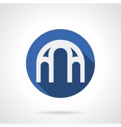 Arched structure blue round icon vector