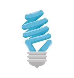 bulb light emblem isolated icon vector image