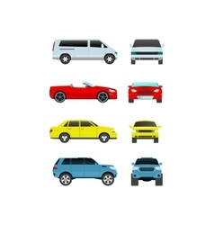 Car vechicle transport isolated on white vector