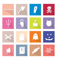 Collection of 16 Halloween Festival vector image