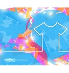 Creative tee shirt art vector