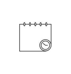 deadline calendar icon vector image vector image