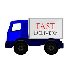 Delivery car blue vector