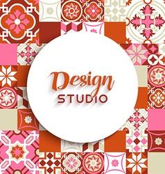 Design studio background mosaic tile decoration vector