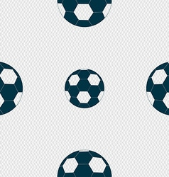 Football icon sign seamless pattern with geometric vector