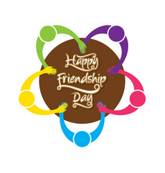Happy friendship day poster design vector