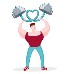 I Love Fitness vector image vector image