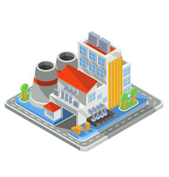 Isometric plant factory isolated on white vector