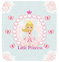 little Princess abstract card vector image vector image
