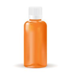 medical brown bottle vector image