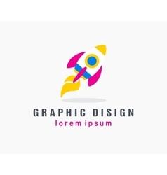 Rocket Logo Concept vector image vector image