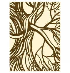 Stylized abstract vintage tree vector image vector image