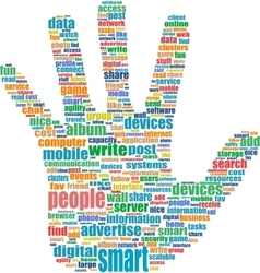 the hands symbol which is vector image