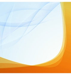 Transparent orange border folder template vector image vector image