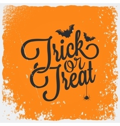 Trick or treat halloween lettering background vector