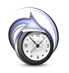 turning back time vector image