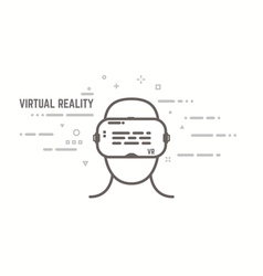 VR headset line style vector image vector image