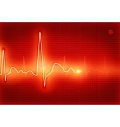Electrocardiogram vector image