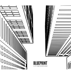 Building wireframe 3d render city vector