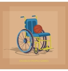 Disabled sports games vector