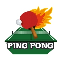 Ping pong sport emblem icon vector