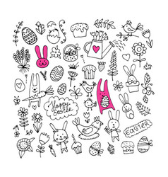 Easter set for your design vector