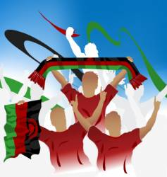 Malawi crowd vector