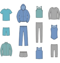 Sport clothes vector image