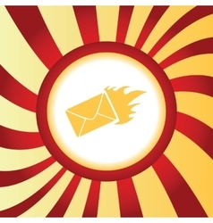 Burning envelope abstract icon vector