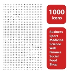 1000 icons set vector