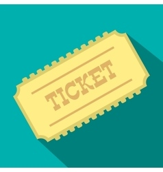 Train ticket flat icon vector