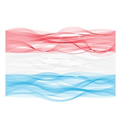 Wave line flag of luxembourg vector