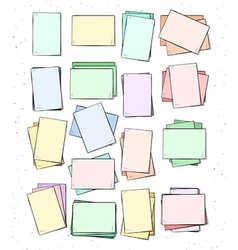 Isolated paper sheet handmade page in sketch style vector