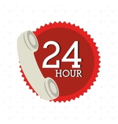 24 hours service design vector