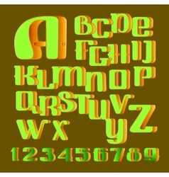 Hand drawn alphabet letters and numbers vector