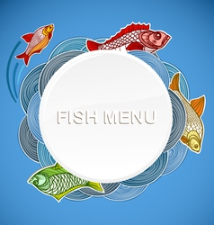 Fish menu template vector