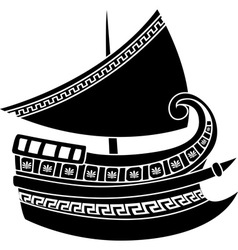Greek ship vector image