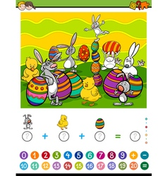 Maths activity for children vector