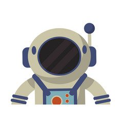 astronaut spacesuit helmet protection vector image vector image