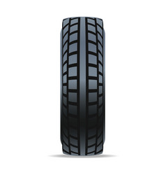 automobile rubber tire icon vector image vector image