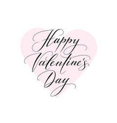 Background with heart and happy valentines day vector
