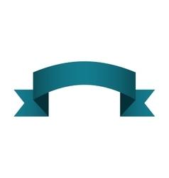 banner ribbon ocean blue graphic vector image