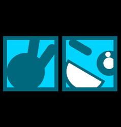 blue card happy vector image
